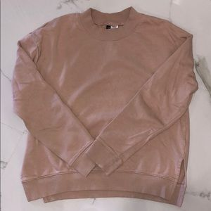H&M Baby Pink Sweater w/ Open Slit on Side Size: S